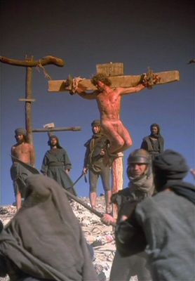 Crucified naked